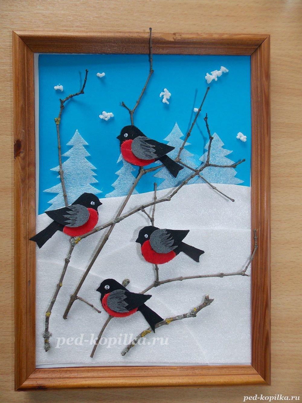 Поделка птицы зимующие 31