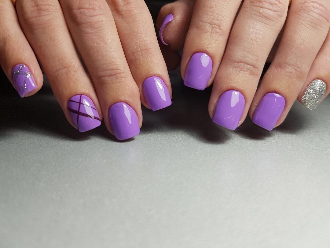 Шеллак Сиреневый Фиолетовый Дизайн