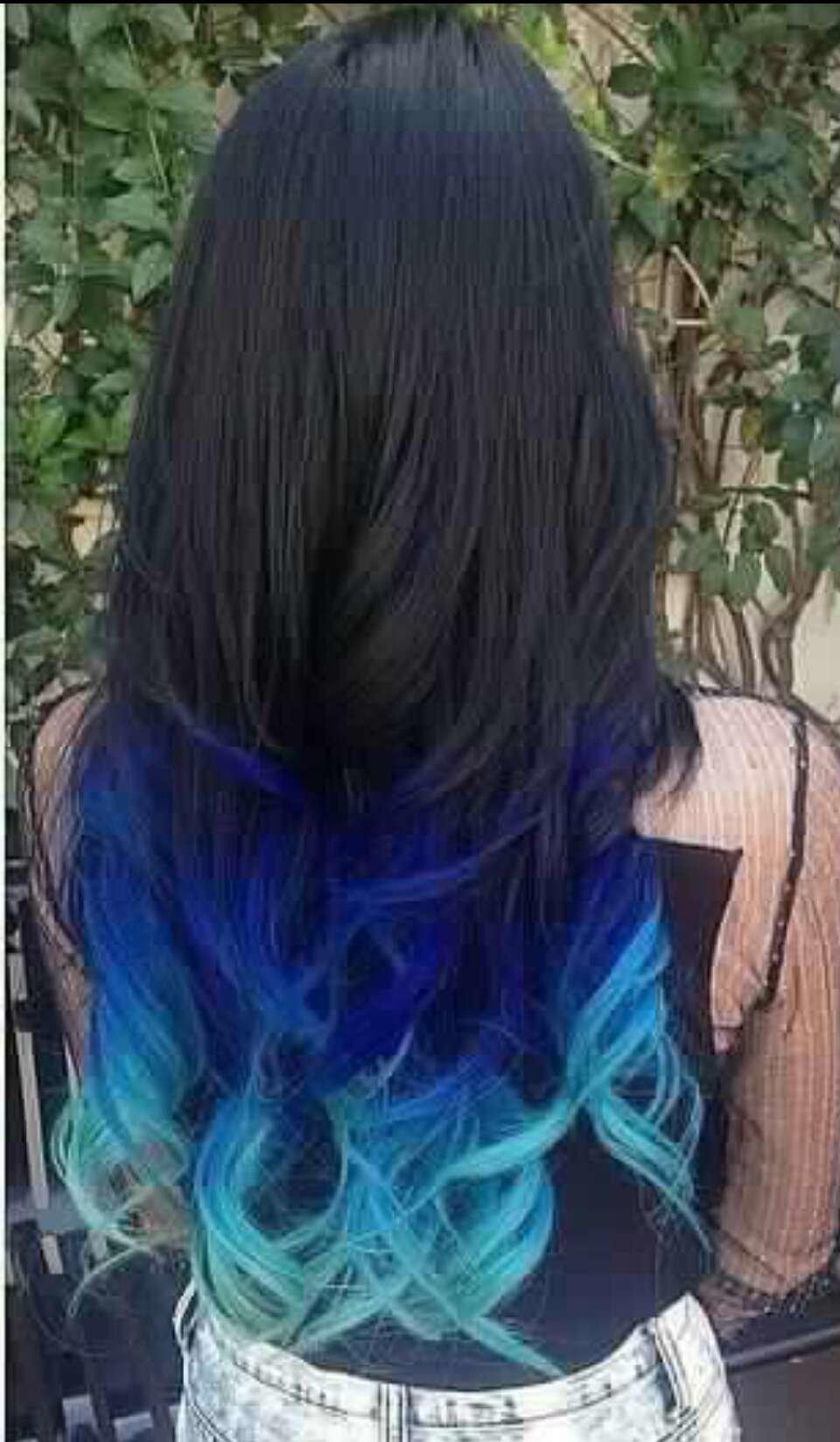 Как покрасить волосы в синий цвет: шевелюра голубого холодного оттенка 62