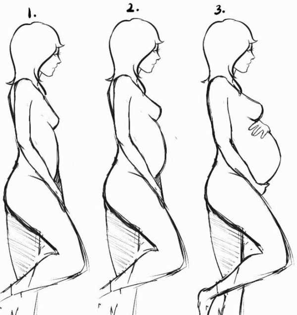 Рисунки беременных женщин карандашом 86