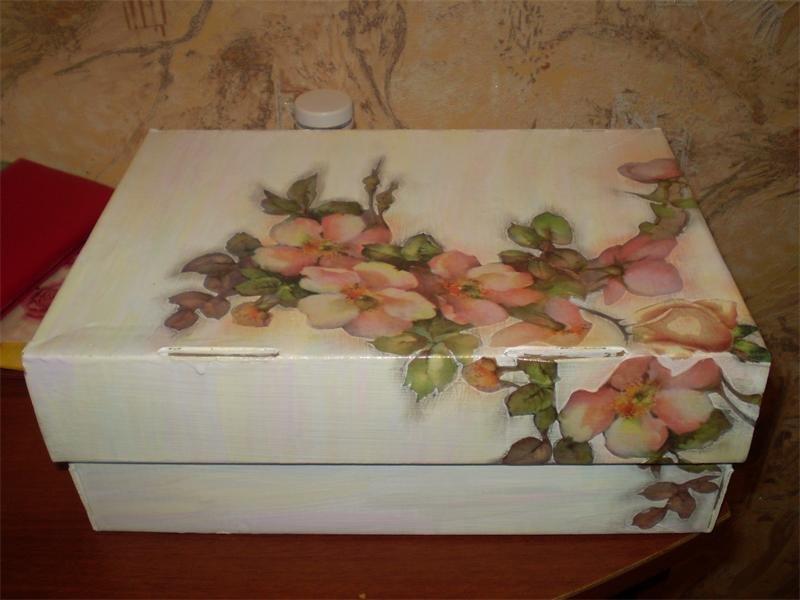 Картонная коробка своими руками декупаж 74
