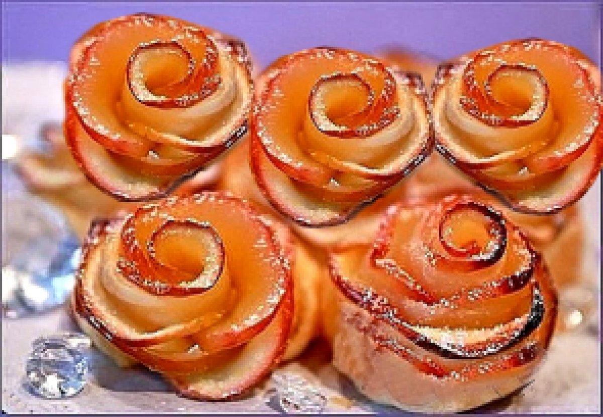 Булочки с корицей и яблоком рецепт пошагово из слоеного теста