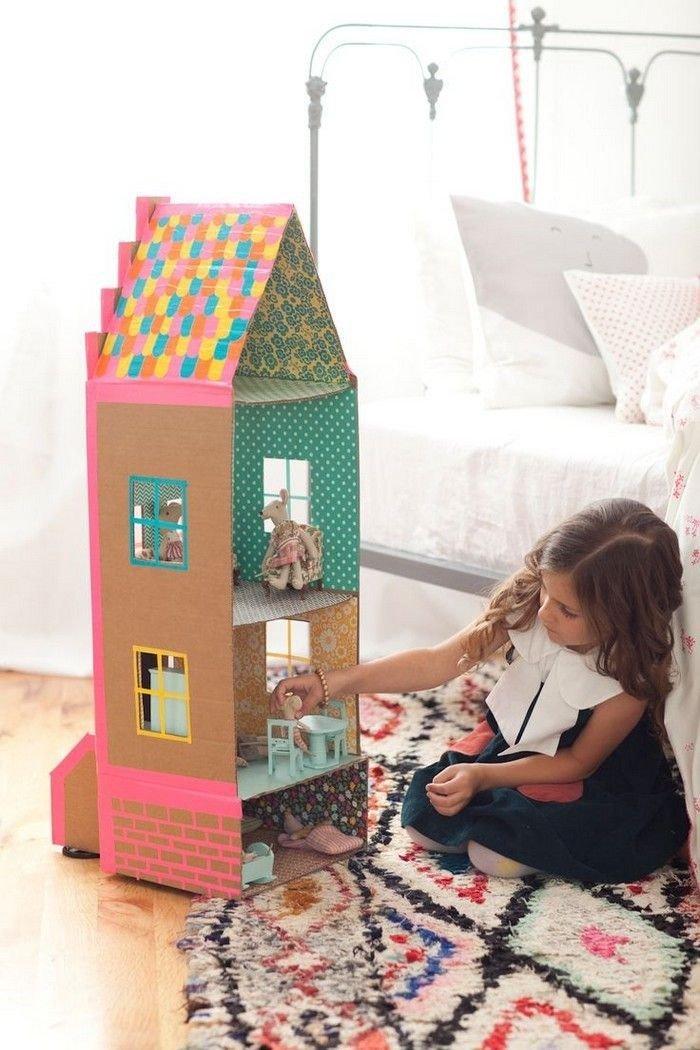 Мастер класс кукольный домик из коробки своими руками 31