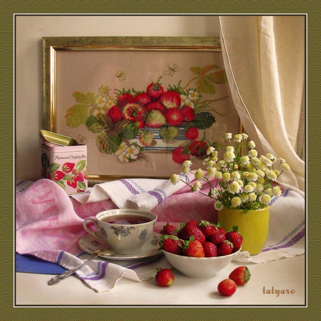 Фото натюрморт с вышивкой