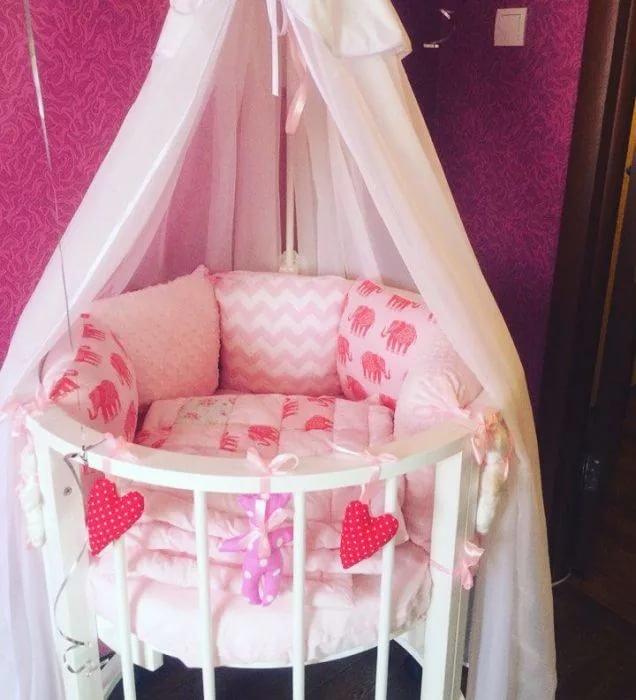 Кроватка с балдахином для новорожденного своими руками 86