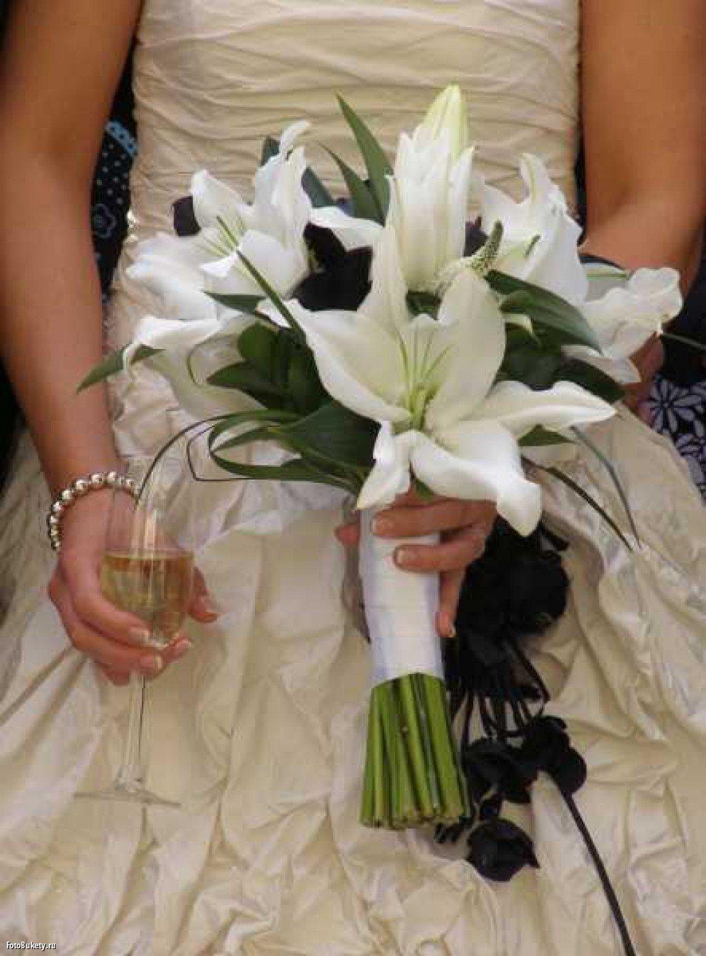 Свадебный букет из лилий своими руками