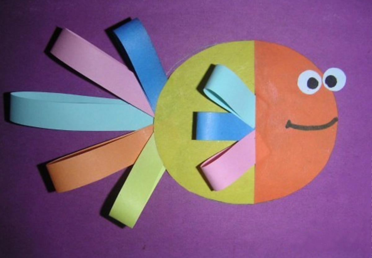 Детские поделки с цветной бумаги 83