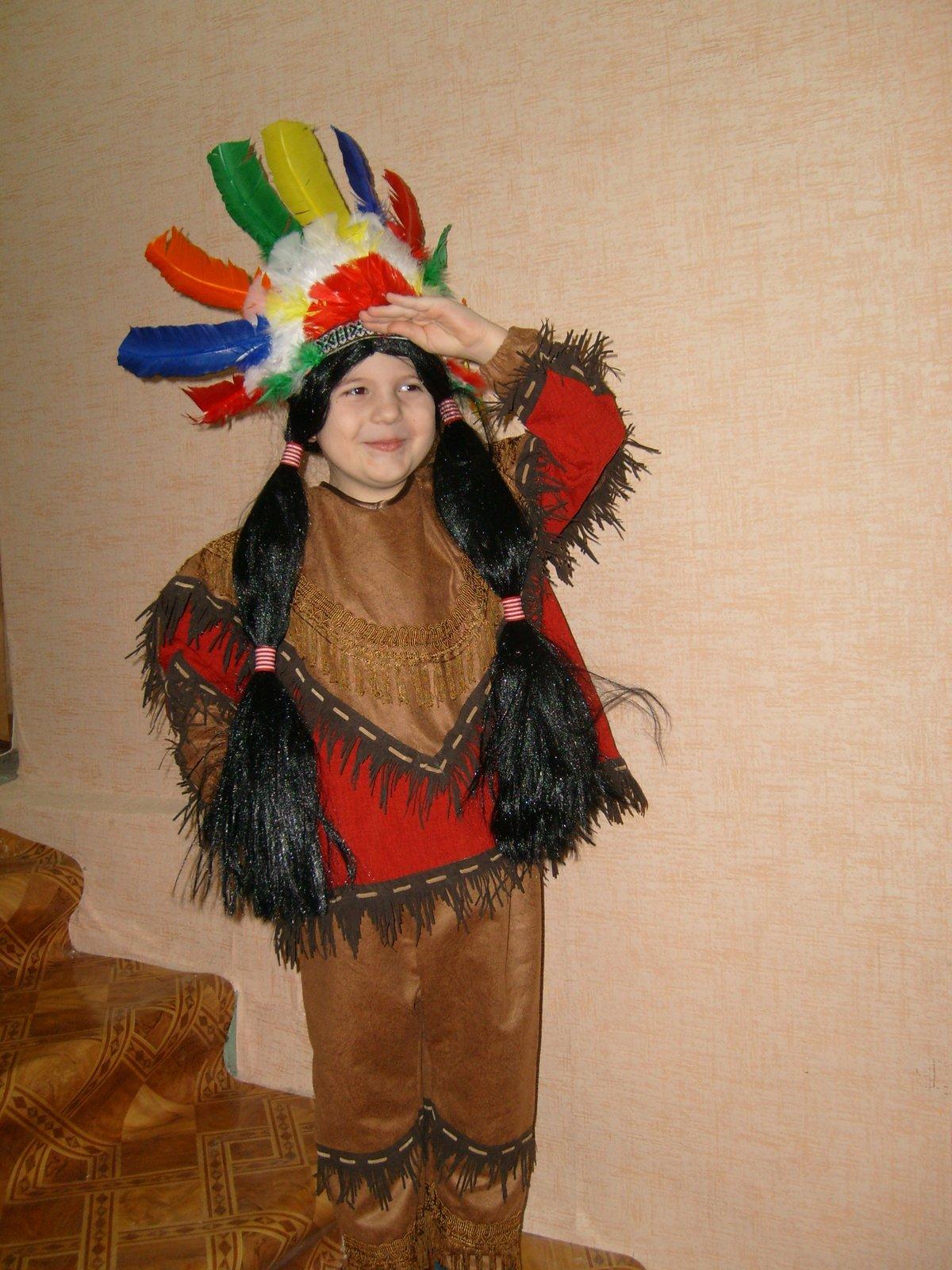 Как сделать костюм индейца своими руками из подручных материалов 48