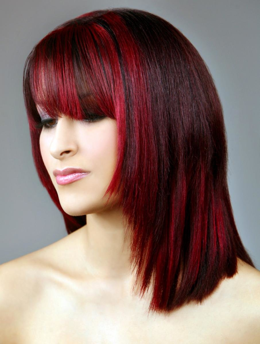 Highlights in red hair pictures