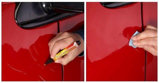 Как подкрасить царапину своими руками 234