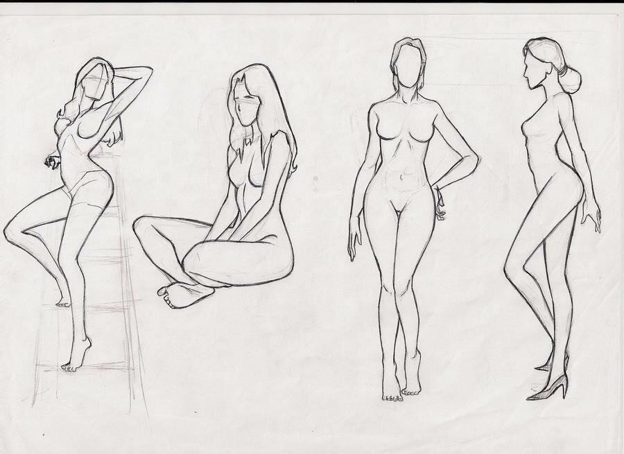 Обнаженное Тело Девушки Рисунок