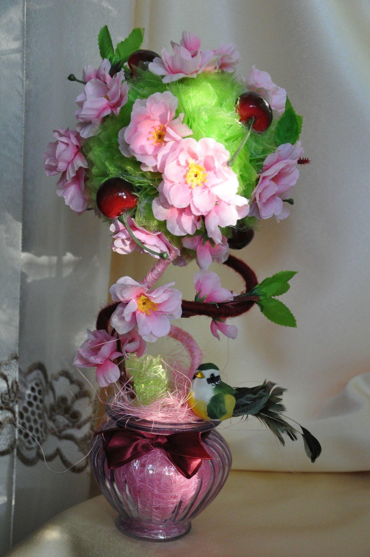 Поделки из искусственных цветов мастер класс
