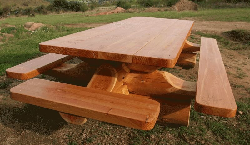Мебель для дачи из бревна своими руками 76