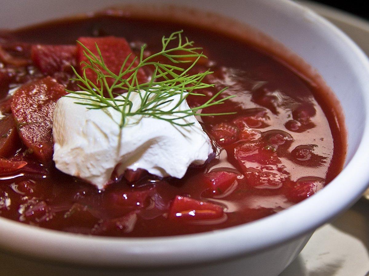 Борщ со свеклой классический рецепт с фото пошагово