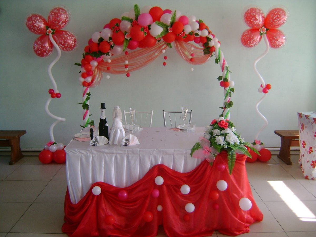 Шары на свадьбу фото