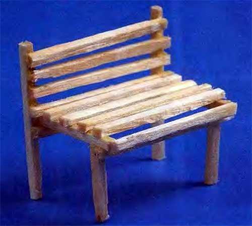 Как сделать скамейку для поделки 63