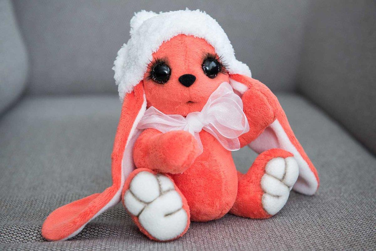 Подарок плюшевый зайчик