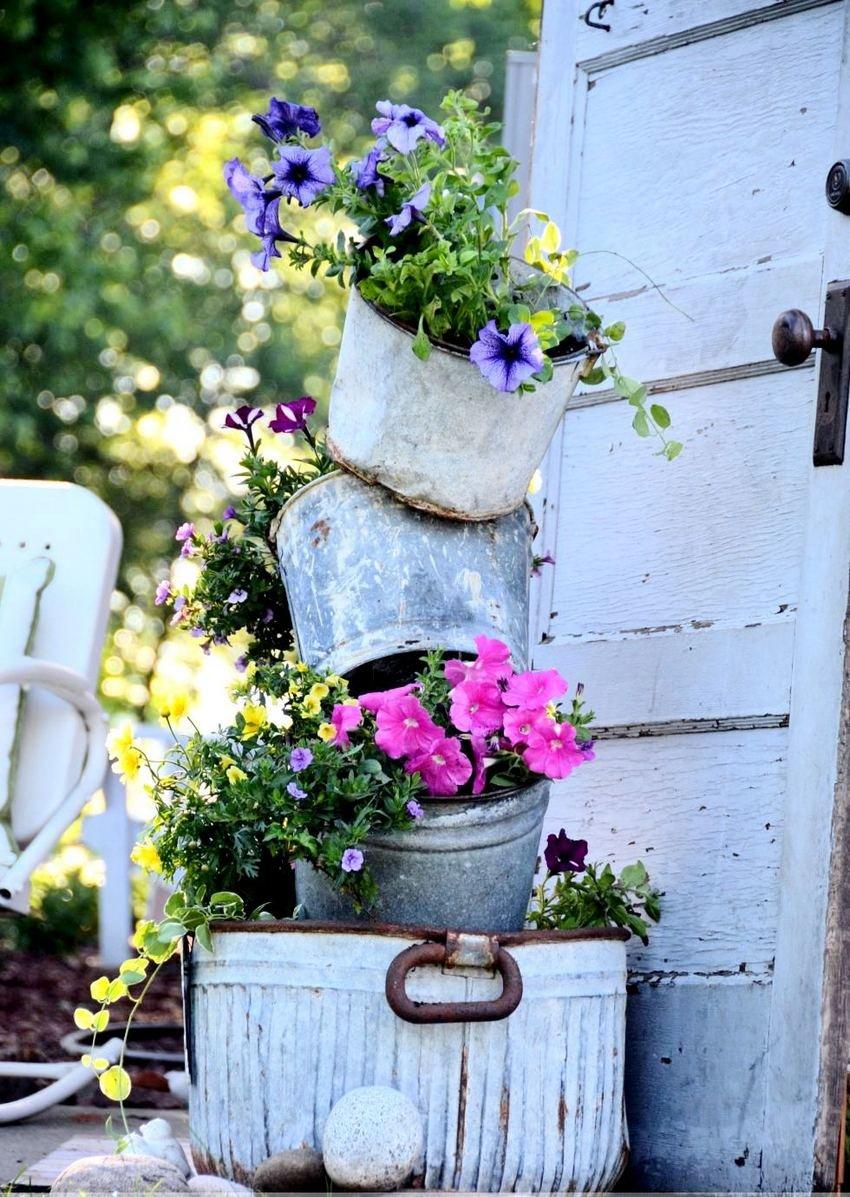 Как сделать своими руками уличные вазоны для цветов 3