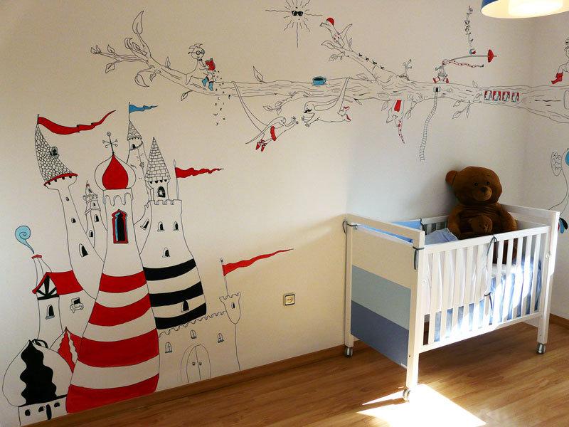 Рисунки на стенах своими руками для мальчиков 985