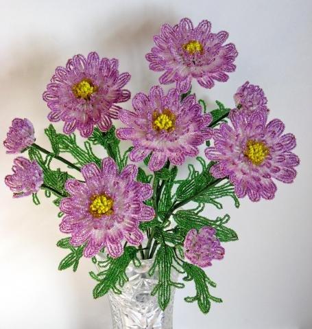 Фото хризантем из бисера