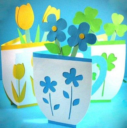 Шаблоны цветов на открытку маме