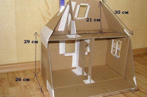 Домик для барби своими руками из картона фото