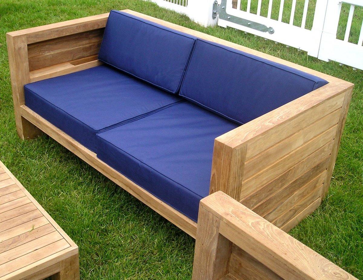Как сделать подушки для садовой мебели своими руками