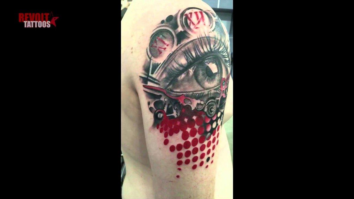 Реалистик треш полька тату Трэш полька татуировки