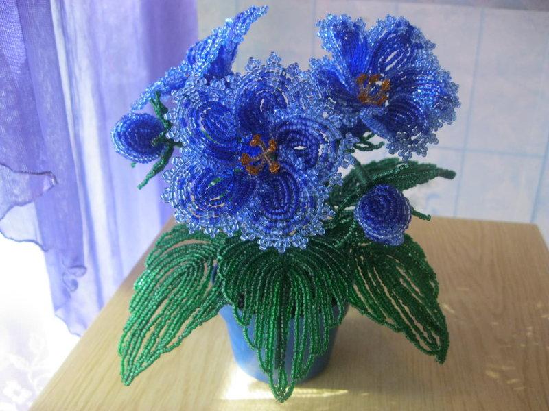 Все синие цветы из бисера 48