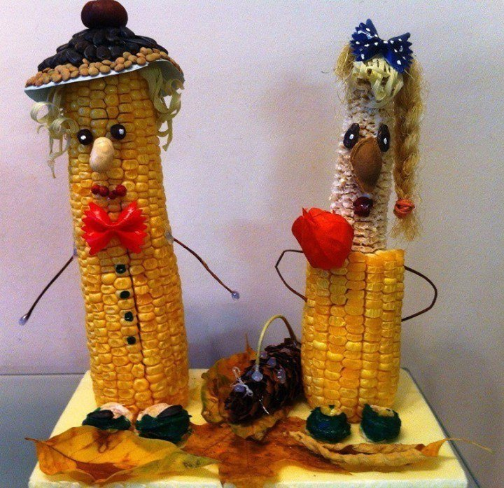 Поделка из кукурузы