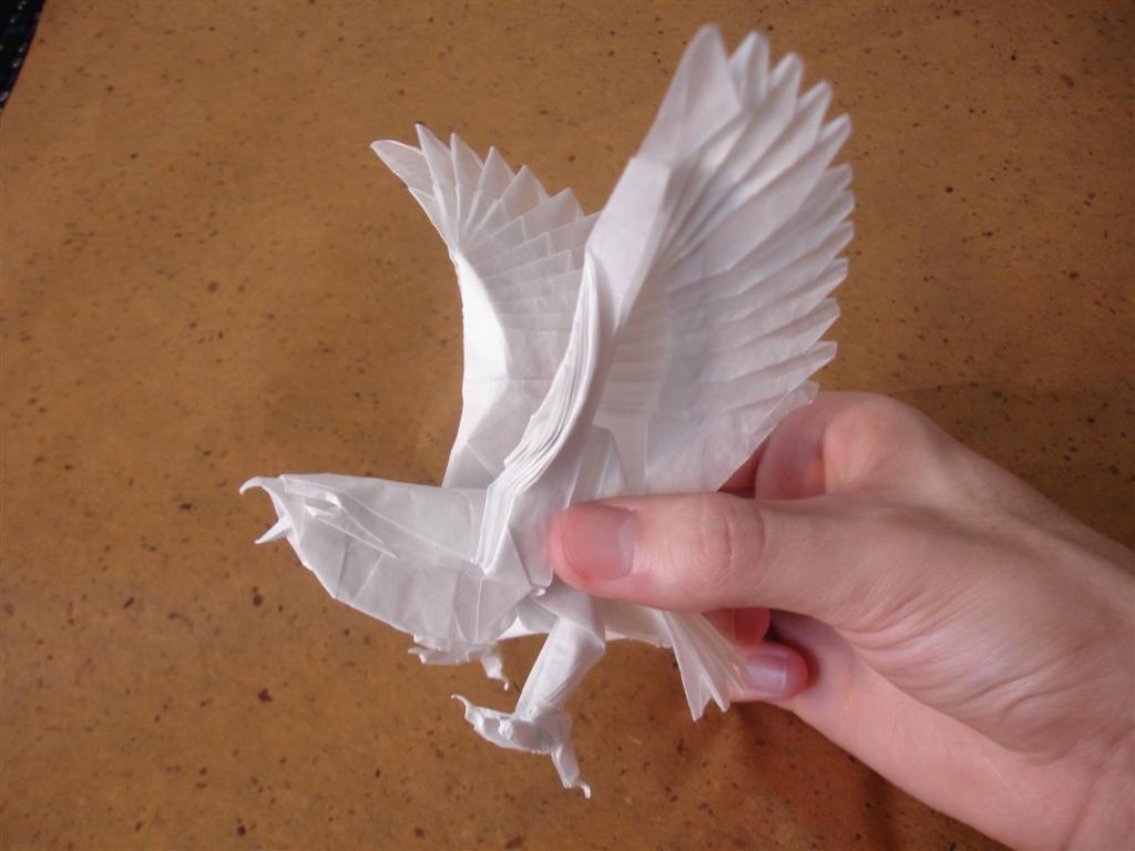 Птица из бумаги своими руками пошагово 19