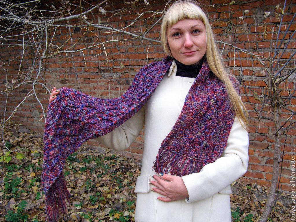 Вязание шарфов из шерсти 844