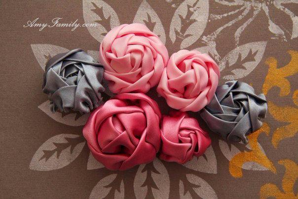 Объемные цветы ткани своими руками 3