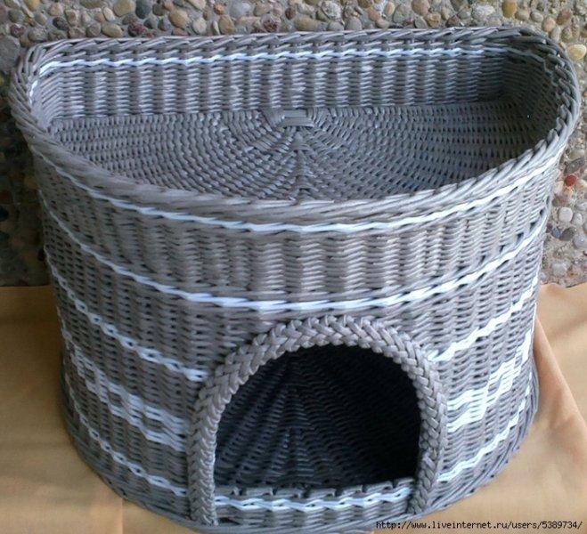 Домик для кошки из газетных трубочек своими руками пошаговая инструкция 109