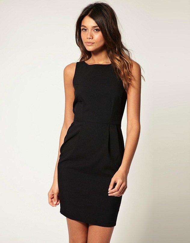 Фото черных платьев футляров