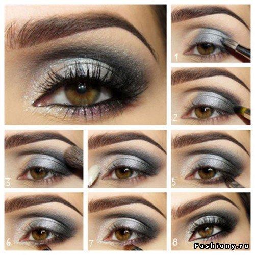 Как правильно нанести макияж черно-белые тени