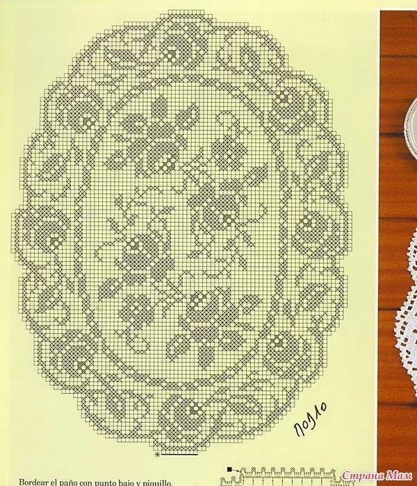 Скатерти филейного вязания крючком