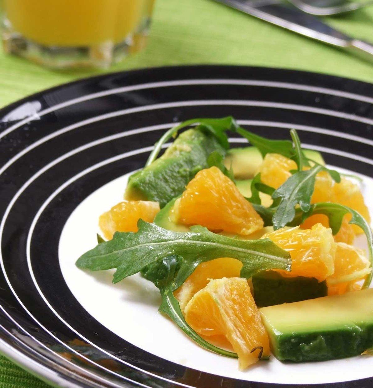 Рецепт салата с апельсином пошагово