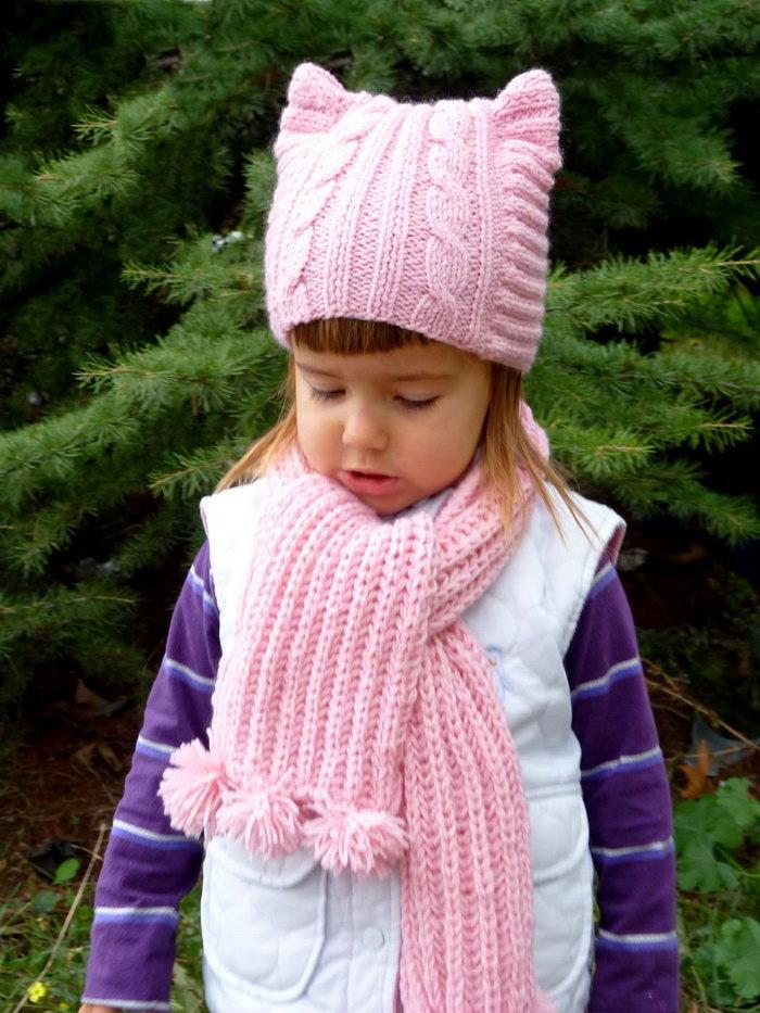 Вязание на спицах шарф детский 31