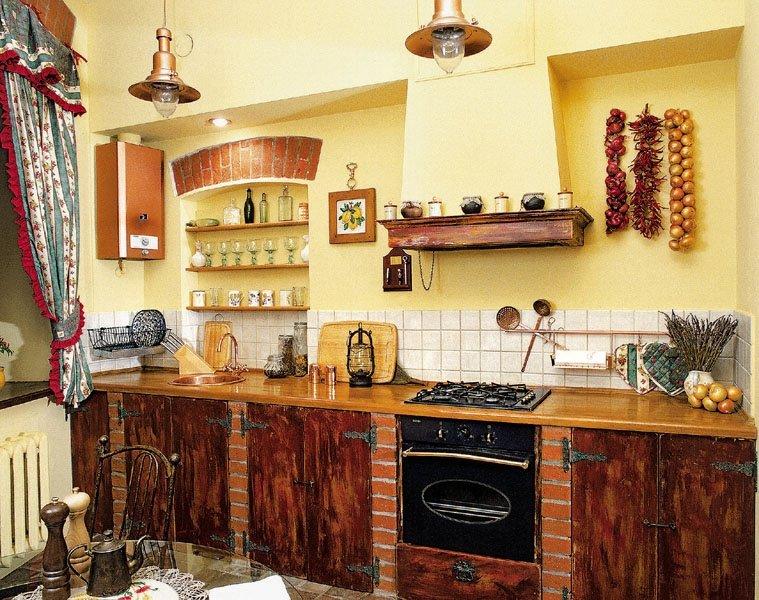 Доступный интерьер кухни своими руками 73