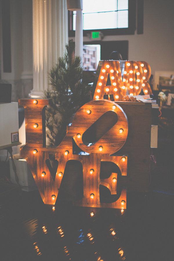 Буквы светящиеся