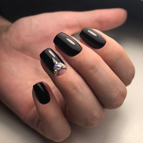Черные ногти дизайн фото 2018