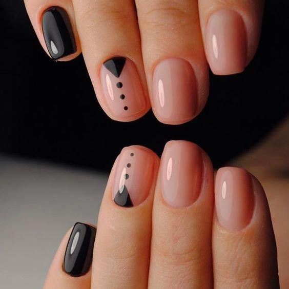 Короткие ногти стильный дизайн