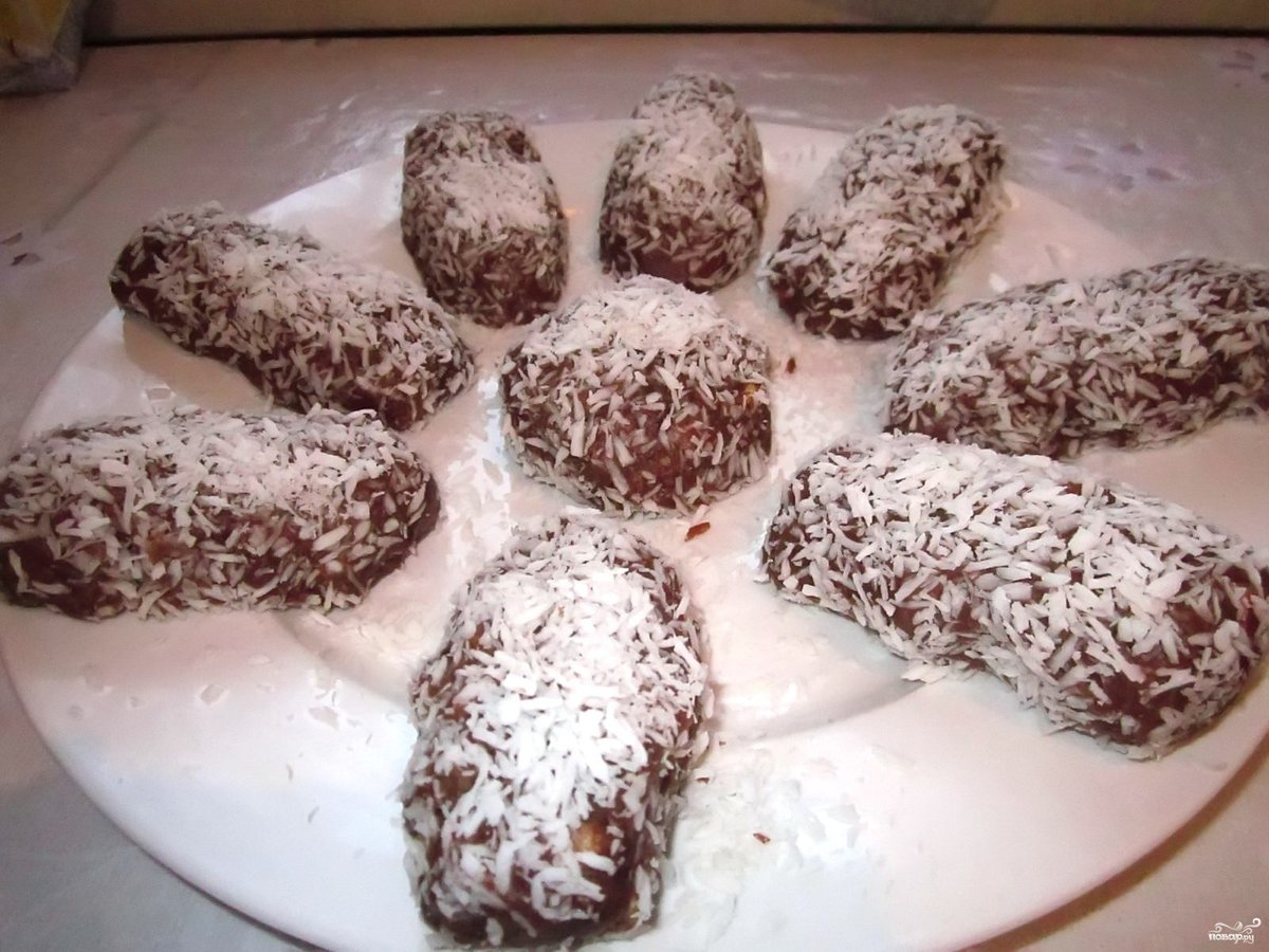 Шоколадная картошка из печенья пошаговый рецепт с