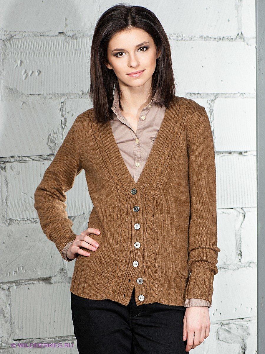 Вязание пуловера на пуговицах спицами