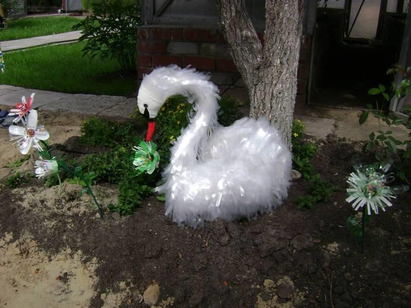 Лебедь из бросового материала своими руками для детского сада