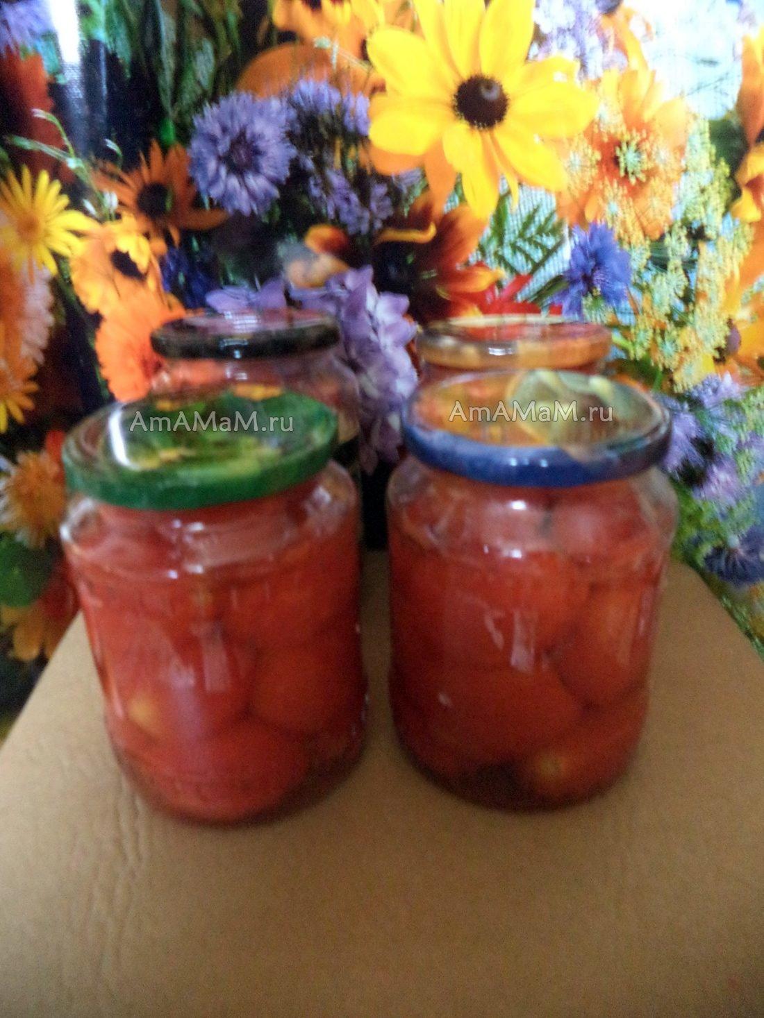 Рецепт томаты в собственном соку на зиму
