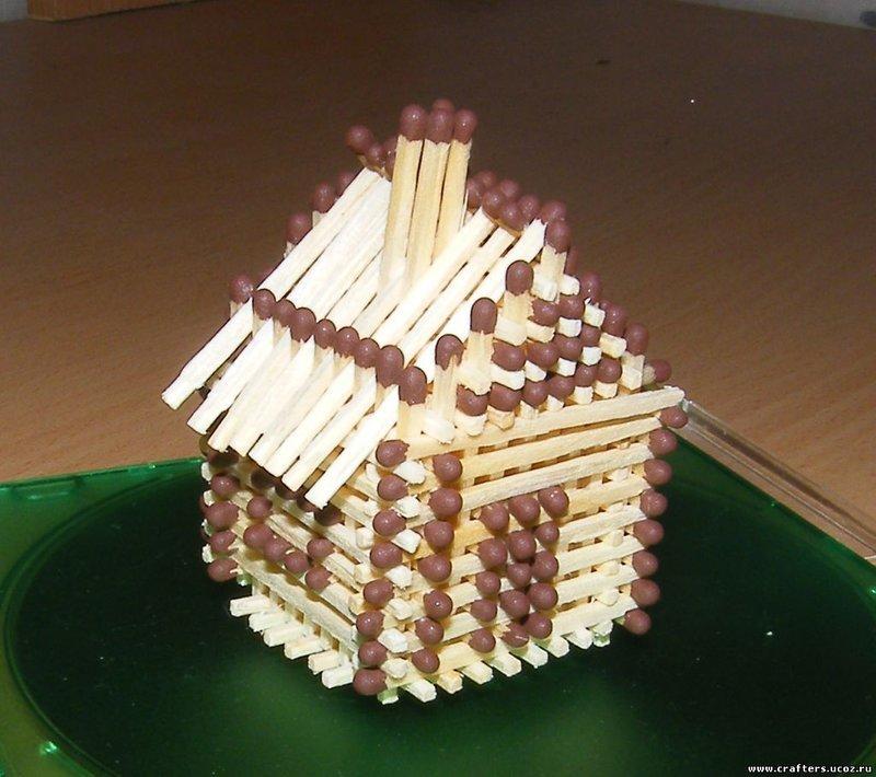 Как своими руками сделать домик из спичек 201