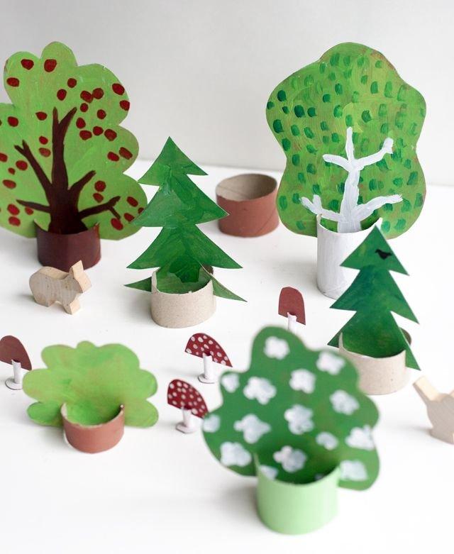 Из чего можно сделать дерево для поделки 55