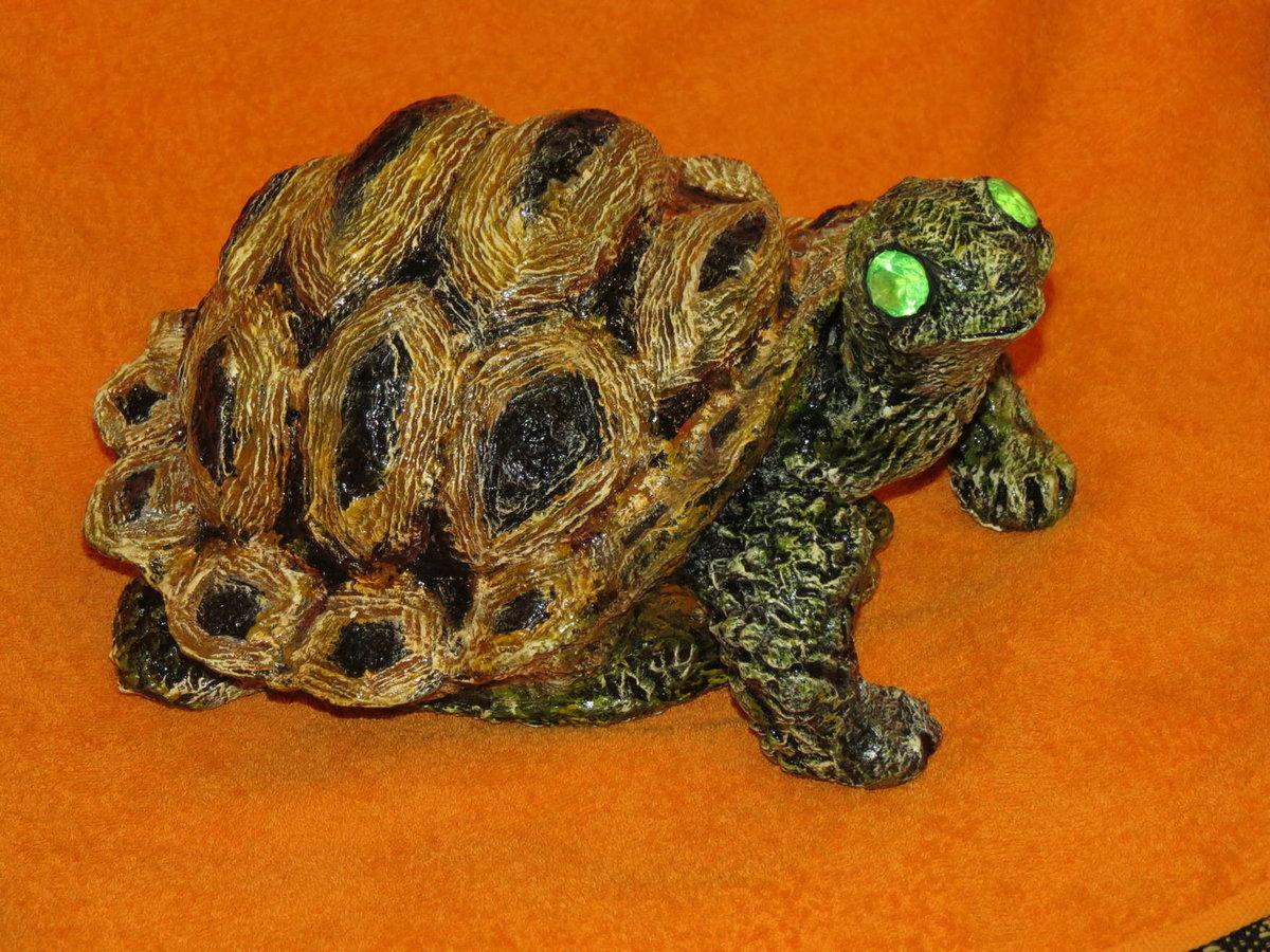 Как сделать черепаху своими руками для сада из цемента 65